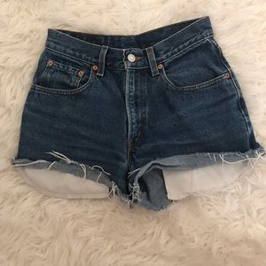 Levi's high waisted denim shorts!!!